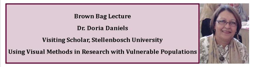 Brown Bag Lecture – Dr. DoriaDaniels