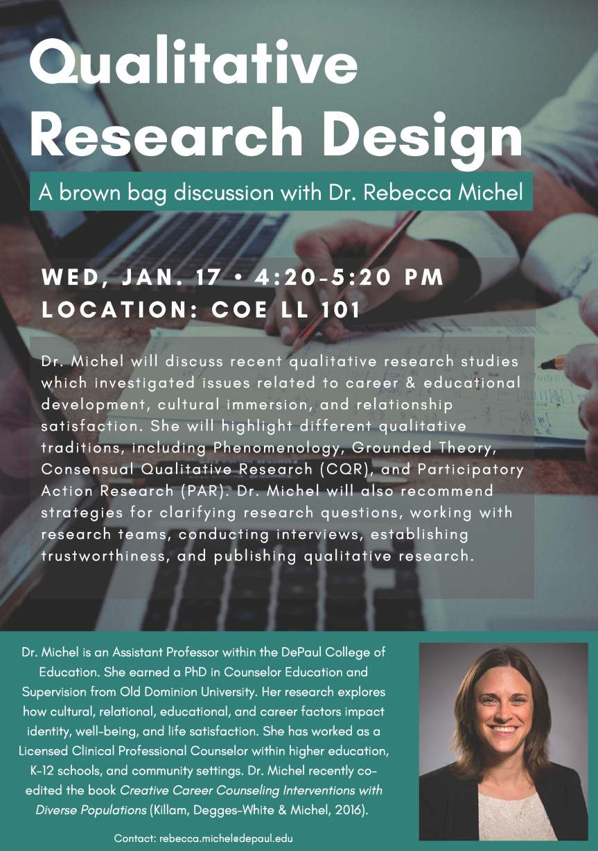 Brown Bag Discussion with Dr. Rebecca Michel, January 17