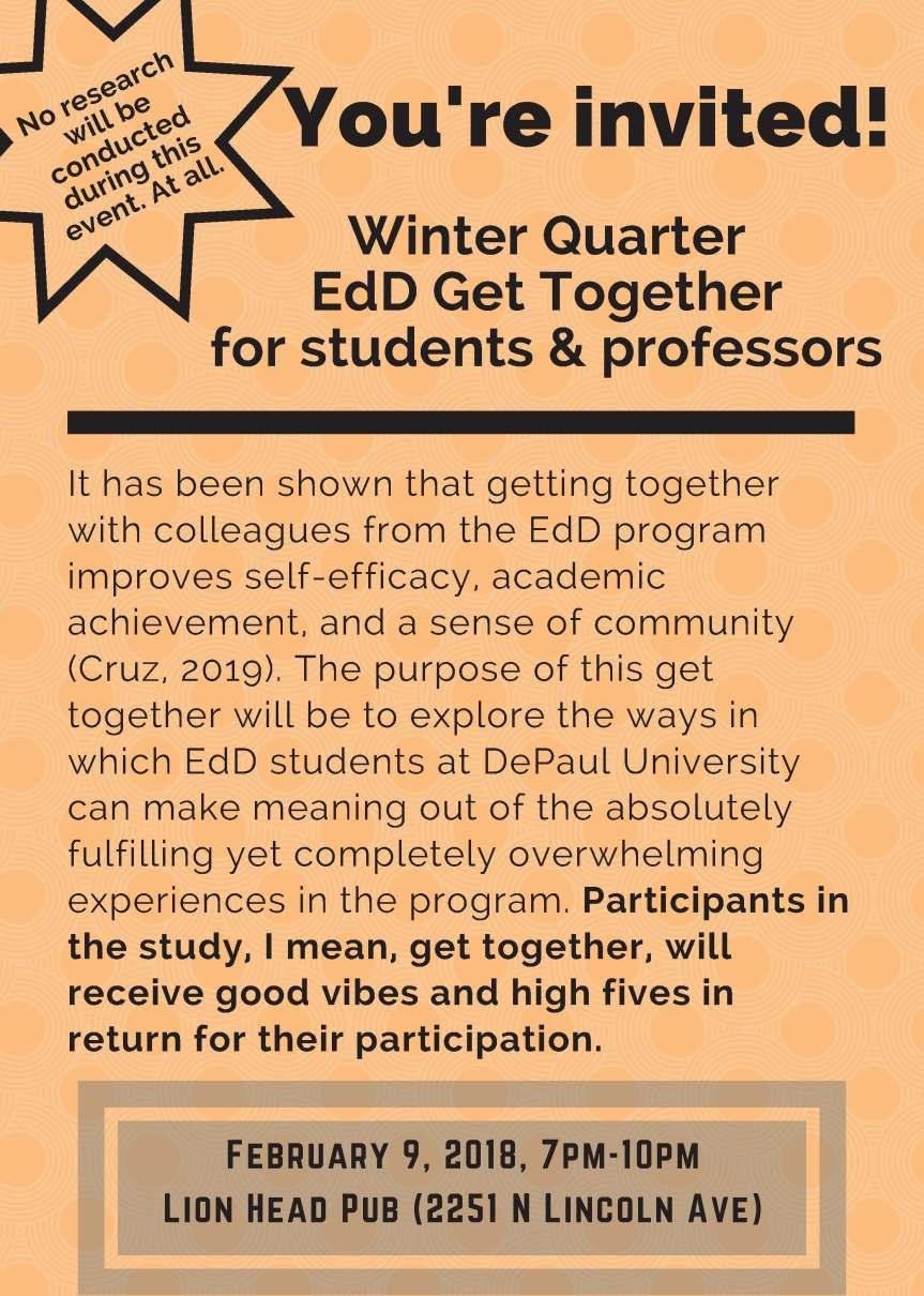 EDSA: Winter QuarterGet-Together